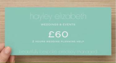 wedding planning gift voucher